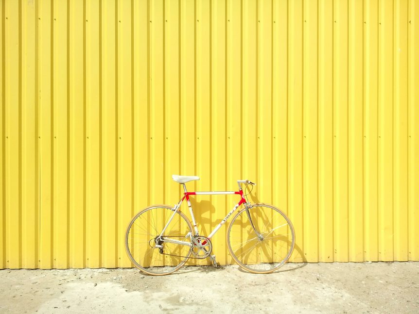 road bike resting